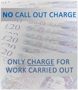 no callout charge, only charge for work carried out